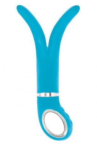 Анатомический вибромассажер Fun Toys G-vibe 2, голубой