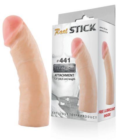 Фаллоимитатор-насадка RealStick #441, телесный, 08,5 см