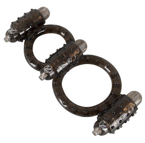 Вибро кольца для того пениса равно мошонки  со шишечками